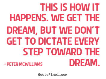 How to make picture quotes about inspirational - This is how it happens. we get the dream, but we don't..