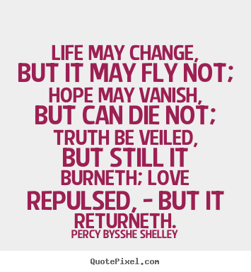 Create your own picture quote about inspirational - Life may change, but it may fly not; hope may vanish,..