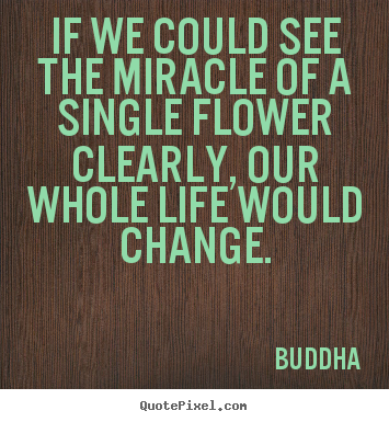 Life quotes - If we could see the miracle of a single flower clearly,..