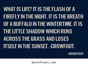 Create graphic picture quotes about life - What is life? it is the flash of a firefly in the night. it is..