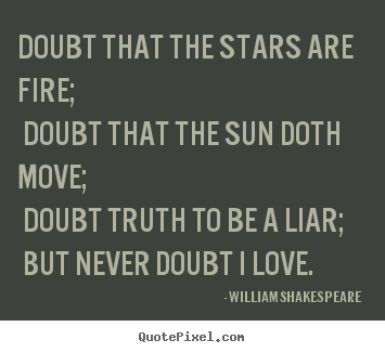Love quote - Doubt that the stars are fire; doubt that the ...