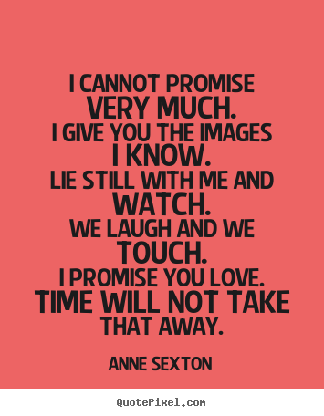 Create your own image quotes about love - I cannot promise very much.i give you the images..
